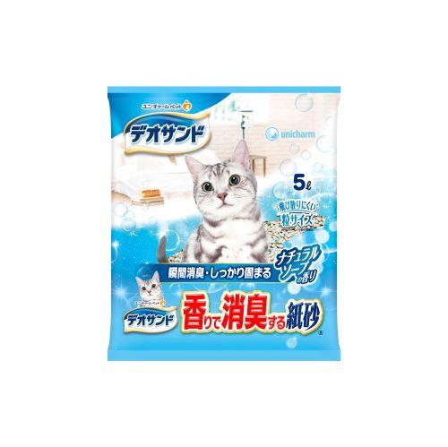 消臭紙砂5L-沐浴香